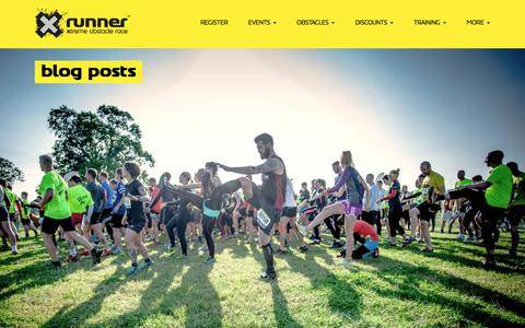 Screenshot of Press Page xrunner.co.uk - XRunner | The ultimate obstacle course race and eXtreme challenges | News - captured July 26, 2018