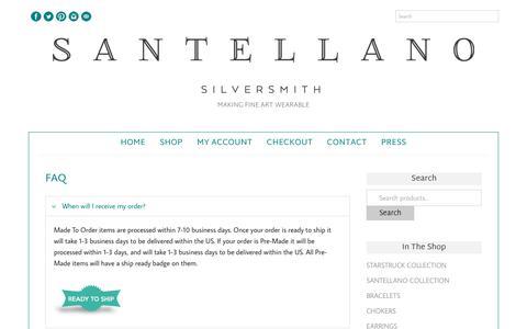 Screenshot of FAQ Page jamiesantellano.com - FAQ - Jamie Santellano - captured Oct. 3, 2017