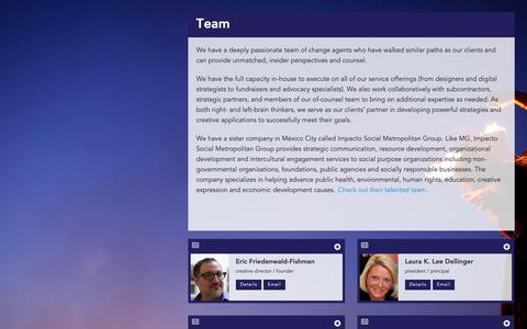 Screenshot of Team Page metgroup.com - Team - Metropolitan Group - captured Oct. 18, 2018