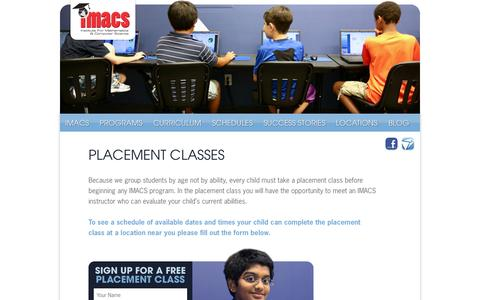 Screenshot of Signup Page imacs.org - Sign-Up Your Child For Math Enrichment and Computer Programming Classes | IMACS - captured Oct. 6, 2014