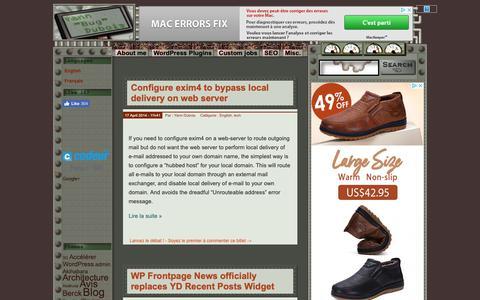 "Screenshot of Home Page Site Map Page yann.com - Yann \""Bug\"" Dubois: freelance Wordpress developer & consultant - captured Oct. 21, 2018"