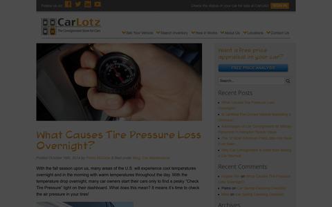 Screenshot of Blog carlotz.com -   CarLotz Blog - captured Nov. 18, 2015