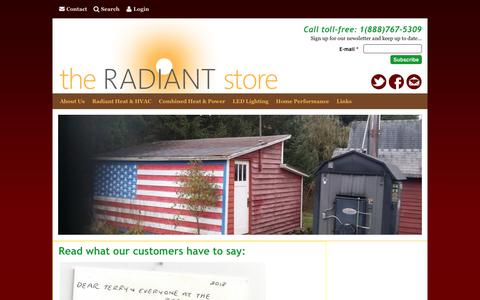 Screenshot of Testimonials Page theradiantstoreinc.com - Read what our customers have to say:   The Radiant Store - captured June 17, 2017