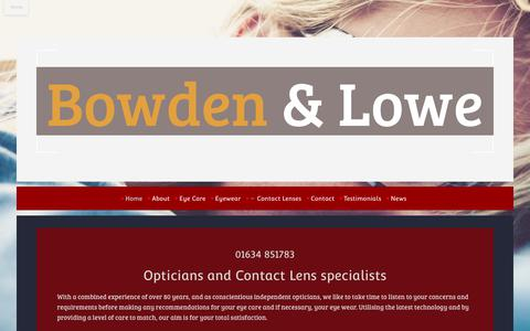 Screenshot of Home Page bowdenandlowe.com - Bowden and Lowe  your local Opticians - captured Oct. 15, 2017