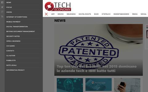 Screenshot of Press Page techeconomy.it - News   Tech Economy - captured Jan. 13, 2016