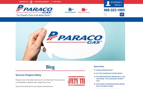 Screenshot of Blog paracogas.com - Paraco Gas Blog | Paraco Gas - captured July 14, 2017