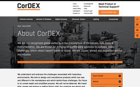 Screenshot of About Page cord-ex.com - CorDEX Hazardous Area & Intrinsically Safe Instrumentation - captured Nov. 21, 2017