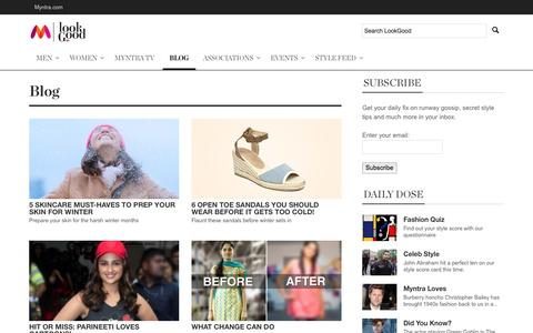 Screenshot of Blog myntra.com - Blog - Myntra LookGood - captured Sept. 16, 2014