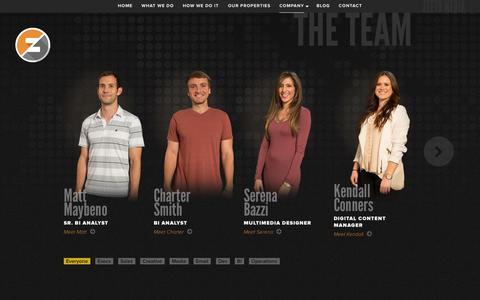 Screenshot of Team Page zeetomedia.com - Zeeto Media - captured Sept. 22, 2014