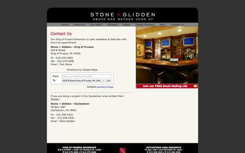 Screenshot of Contact Page stoneglidden.com - Stone + Glidden/Contact Us - captured Oct. 7, 2014