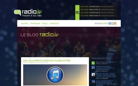 Screenshot of Blog radiojv.com - Blog — RadioJV - captured Nov. 1, 2014