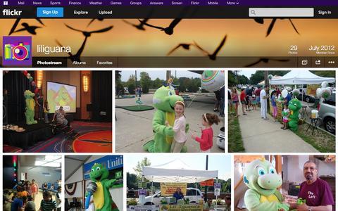 Screenshot of Flickr Page flickr.com - Flickr: liliguana's Photostream - captured Oct. 22, 2014