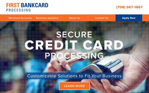 Screenshot of Home Page firstbp.com - Credit Card Processing | First BankCard Processing - captured Oct. 13, 2017