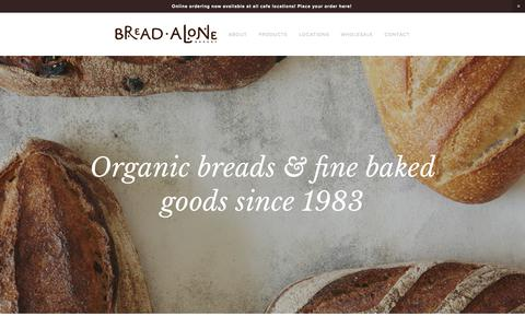Screenshot of Home Page breadalone.com - Bread Alone Bakery - captured Oct. 11, 2017