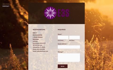 Screenshot of Contact Page ethrees.com - Contact — E3S - captured Nov. 1, 2014