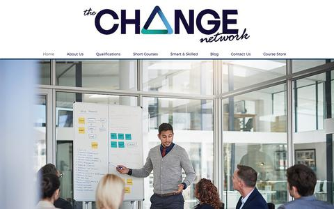 Screenshot of Home Page changenetwork.com.au - The Change Network - captured Oct. 18, 2018