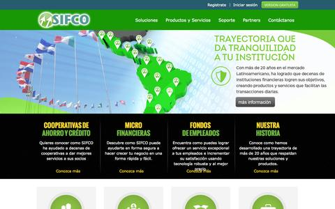 Screenshot of Home Page sifco.org - Inicio - captured Oct. 3, 2014