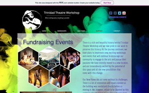 Screenshot of Support Page trinidadtheatreworkshop.com - Fundraising - captured Oct. 30, 2018