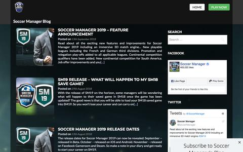 Screenshot of Blog soccermanager.com - Soccer Manager Football Blog - captured Sept. 21, 2018