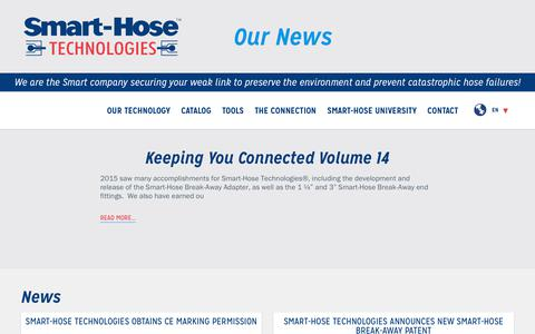 Screenshot of Press Page smarthose.com - Smart-Hose   The Connection - captured Oct. 26, 2017