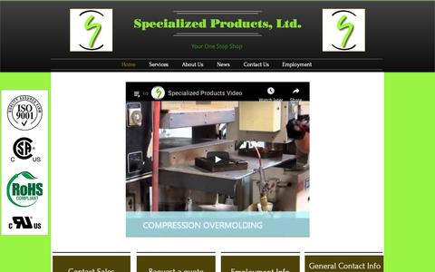 Screenshot of Home Page specializedproductsltd.com - Home | Wisconsin | Specialized Products, Ltd. - captured Oct. 20, 2018