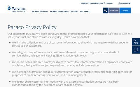 Screenshot of Privacy Page paracogas.com - Privacy Policy | paracogas - captured Sept. 26, 2018