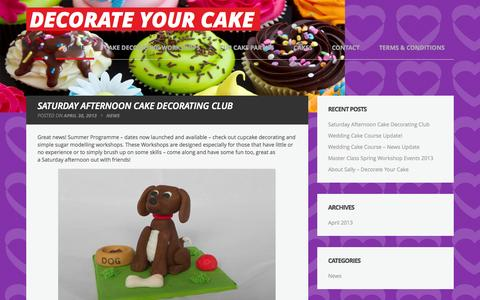 Screenshot of Home Page decorateyourcake.co.uk - Decorate Your Cake - - captured Sept. 30, 2014