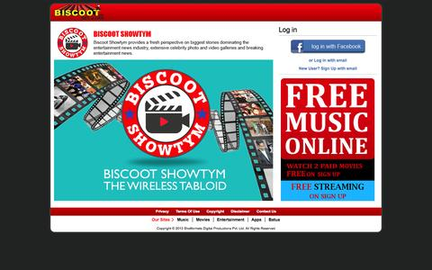 Screenshot of Signup Page Login Page biscoot.com - Biscoot - captured Oct. 25, 2014