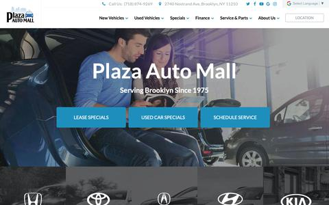 Screenshot of Home Page plazaautomall.com - Plaza Auto Mall   Dealer in Brooklyn, NY - captured Nov. 6, 2018