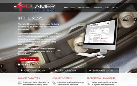Screenshot of Home Page polamer.us - Polamer Precision | Aerospace Manufacturing - captured Oct. 2, 2014