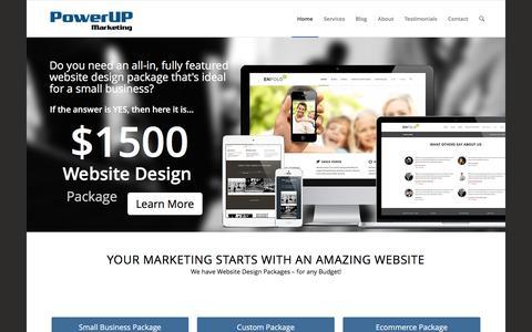 Screenshot of Home Page powerupmarketing.com - PowerUP Marketing   Amazing Website's + Creative Marketing - captured Dec. 10, 2015