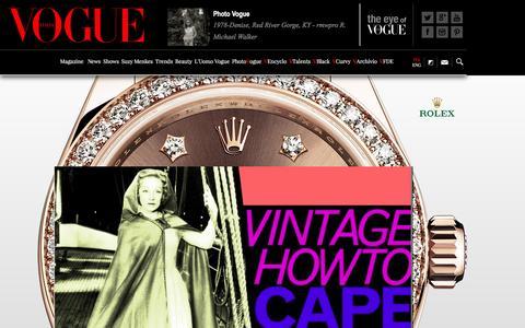 Screenshot of Home Page vogue.it - Moda, Sfilate e Tendenze - Vogue.it - captured Dec. 2, 2015