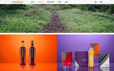 Screenshot of Products Page xango.com - XANGO USA - captured Nov. 23, 2015