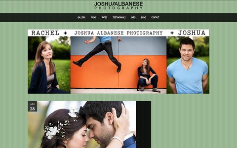 Screenshot of Blog joshuaalbanese.com - Chicago Wedding and Headshot Photographer - captured Aug. 5, 2015