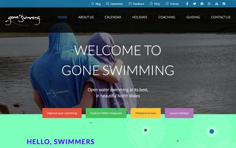 Screenshot of Home Page goneswimming.co.uk - Home - Gone Swimming - captured Sept. 30, 2014