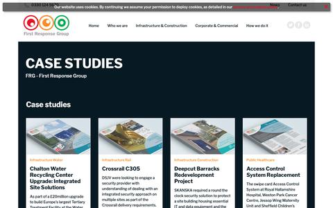 Screenshot of Case Studies Page firstresponsegroup.com - Queries about your personal data | FRG | First Response Group Ltd - captured Dec. 9, 2018