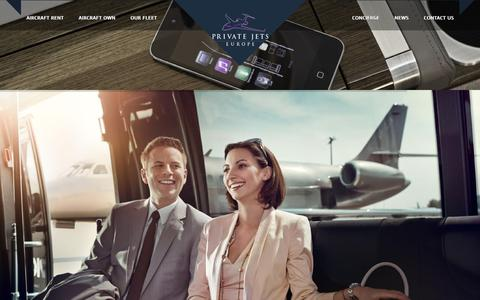 Screenshot of Home Page privatejetseurope.com - Private Jets Europe best private jets rental offers, transfers and accommodation - captured Nov. 4, 2018
