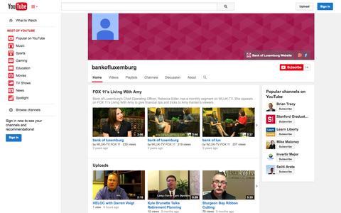 Screenshot of YouTube Page youtube.com - bankofluxemburg  - YouTube - captured Oct. 29, 2014