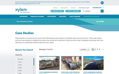 Screenshot of Case Studies Page xylem.com - Read Case Studies to Learn About Our Expertise - captured Nov. 18, 2016