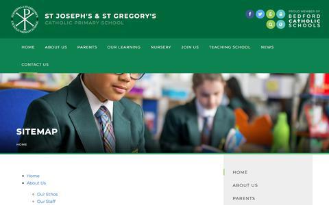Screenshot of Site Map Page stjosephsandstgregorys.com - St Joseph's & St Gregory's Catholic Primary School - Sitemap - captured June 9, 2018