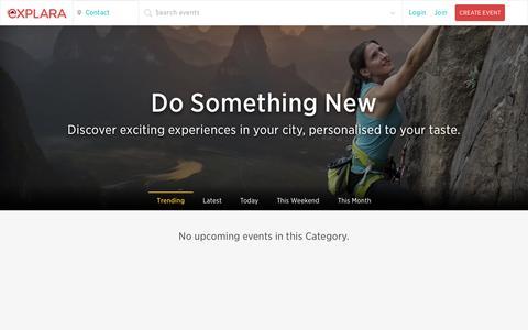 Screenshot of Contact Page explara.com - Events in Contact, Discover upcoming experiences |Explara.com - captured Oct. 20, 2015