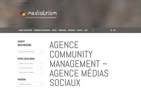 Screenshot of Team Page mediatrium.com - Agence Community Management – agence médias sociaux – Agence réseaux sociaux - captured Oct. 27, 2014