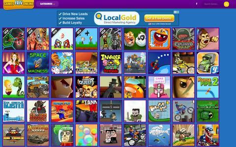 Screenshot of Home Page gamesfrivonline.com - Friv Games Online - captured Jan. 22, 2015
