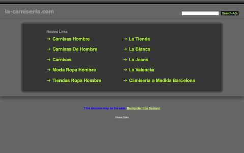 Screenshot of Home Page la-camiseria.com - La-Camiseria.com - captured March 25, 2017