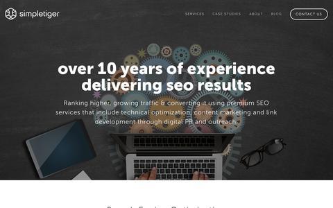 Screenshot of Services Page simpletiger.com - Search Engine Optimization   SimpleTiger - captured June 24, 2017
