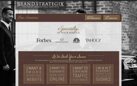 Screenshot of Services Page brand-strategix.com - Internet Marketing Services | NYC Internet Marketing Services | Brand Strategix - captured Sept. 25, 2014