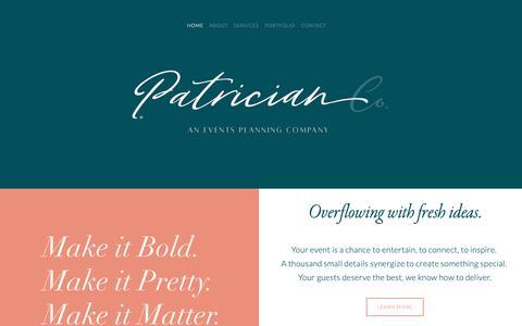 Screenshot of Home Page patriciancompany.com - Patrician Company - captured Nov. 4, 2018