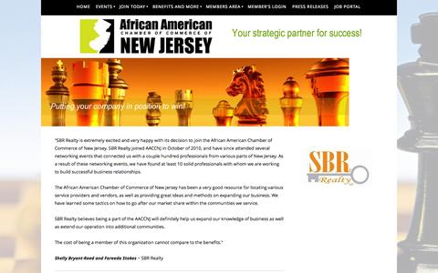 Screenshot of Testimonials Page aaccnj.com - African American Chamber of Commerce of NJ - Testimonials - captured Oct. 4, 2014
