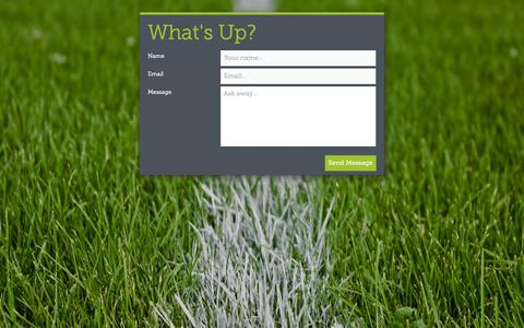 Screenshot of Contact Page football4football.com - football4football - captured Sept. 30, 2014