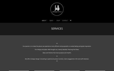 Screenshot of Services Page sabidesigns.com.au - SERVICES | Sabi Designs - Interior Design - captured Dec. 20, 2015